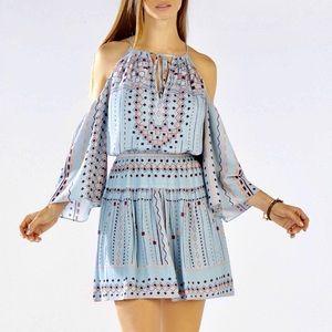Preloved BCBG Cold Shoulder Dress Light Blue